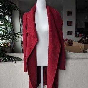 Zara Open Front Red Long Coat